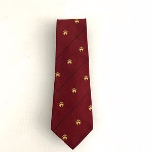 Brooks Brothers Red Gold Silk Golden Fleece Symbol